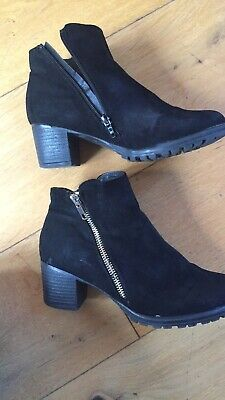 Girls River Island Black Suede Heeled Boots Suze 3