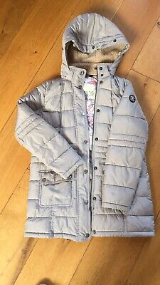 Girls Ligt Grey Barbour Coat Size L