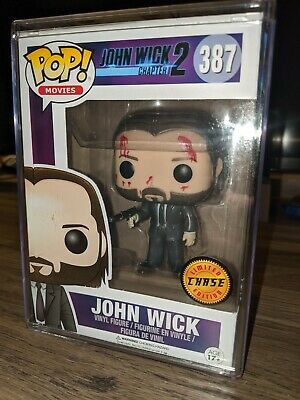 Funko POP! Movies: #387 John Wick Chase Vaulted Authentic w/hard stack protector