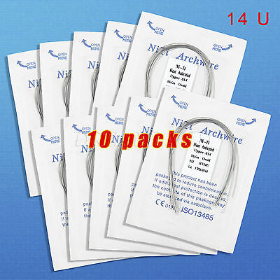 10 Dental Orthodontic Heat thermal Activated Niti Round Arch Wire 14U RWLP