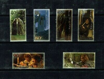 New Zealand: 2001 Lord of the Rings (series 1)  Film, MNH set