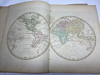 1809 Wilkinson's General Atlas of the World - 48 Colour Maps