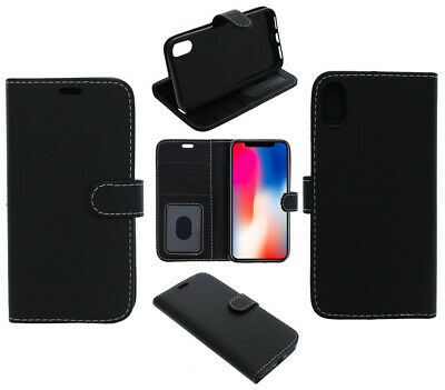 For LG Q60 Phone Case, Cover, Wallet, Slots, PU Leather / Gel - Black