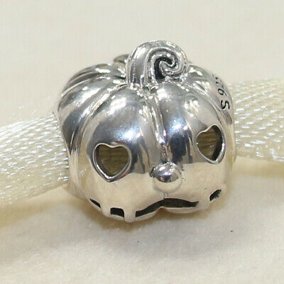 New Authentic Pandora Charm Sweet Pumpkin 797596 Bead W Tag & Suede Pouch