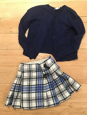 Bonpoint Cardigan & Skirt Outfit Age 10
