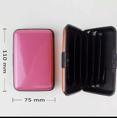 Black Credit Card Holder Case Protector Waterproof Anti Theft Contactless Block
