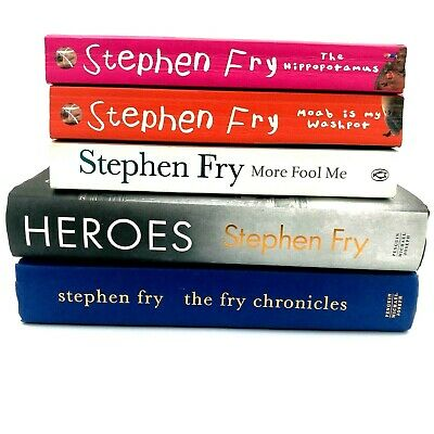 Stephen Fry Books Bundle. 5 items. More Fool Me, Heroes, The Fry Chronicles...