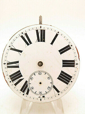 Vintage Swiss Made Manual Wind 8 Day Car Clock For Parts Spares Repair