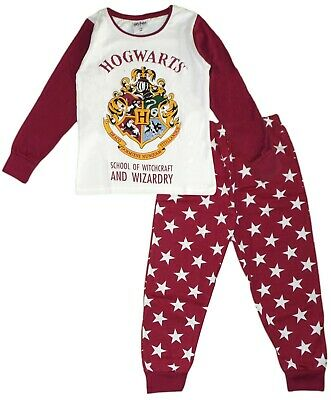 Exclusive Licensed Harry Potter Cotton Long Sleeve Pajamas PJs Jammies Hogwarts
