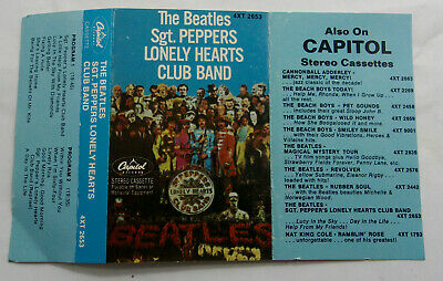 The Beatles Sgt. Peppers Lonely Hearts Original Paper Label Cassette 4XT 2653