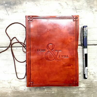 "Ladies Leather Journal Handmade ""I Can & I Will"""