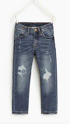 Zara  Boys New Light Blue Super skinny Ripped Jeans Aged 6 Years, with Tags