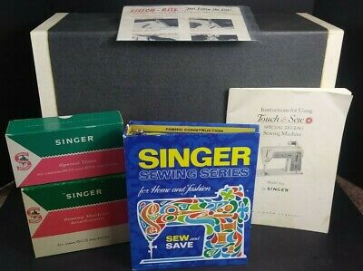 Vintage Singer 603 Touch & Sew Sewing Machine With pedal, case and attachments