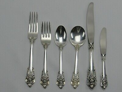 Wallace Grand Baroque Sterling Silver 6 Piece Place Setting