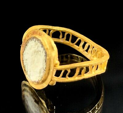 Ancient Roman Gold Ring; Open Work Swirls; 100 Bc - 200 Ad; Elegant & Wearable!