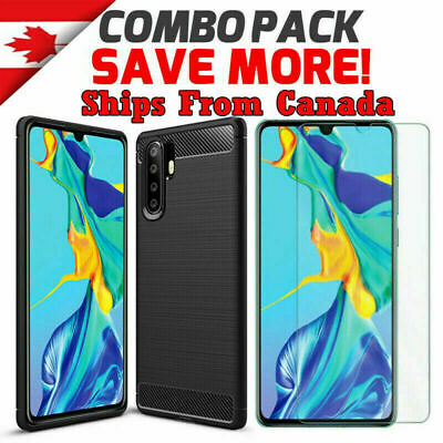 For Huawei P30 / Pro Lite Nova 5T Carbon Fiber Shockproof Heavy Duty Case Cover
