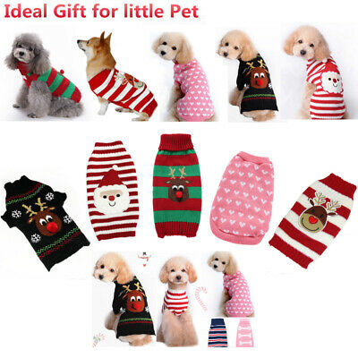 US Dog Cat Christmas Pet Dog T Shirt Clothes Puppy Cat Coat Party Costume Outfit