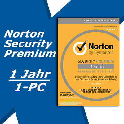 Norton Security Premium 2019 INTERNET DELUXE Alle Versionen / 1 Geräte / 1 Jahr