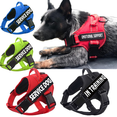 NEW Service Dog No Pull Harness Pet Adjustable Vest for Small Medium Large Dogs