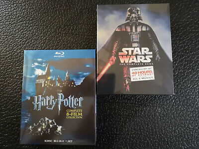 Star Wars The Complete Saga & Harry Potter 8-Film Collection 1-6 Blu-Ray Box Set