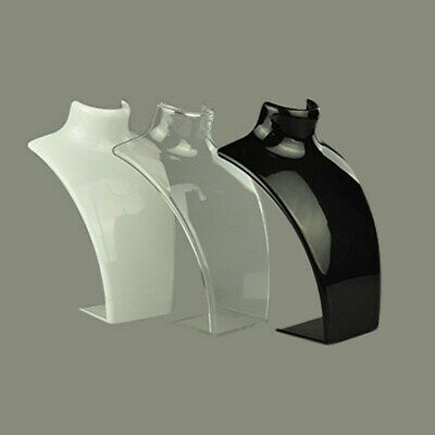 1 x Acryic Necklace light weight Standing Bust Display 135x64x210mm free post