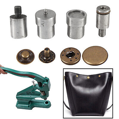 S Spring Press Stud Setting Tool Die Set for Green Hand Machine 10/12/15/17mm