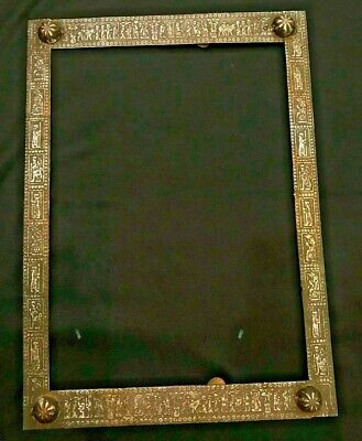 A beautiful very old Frame made from bronze with engravings of Mythological