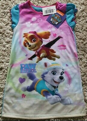 Girls Nightie Paw Patrol Skye Everest Blue Pink Nightdress Pyjamas 2-5 Years