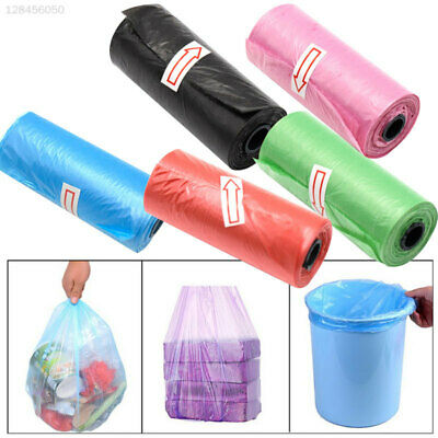 1DFB Black Plastic Garbage Bags Bathroom Kitchen Tear-Resistant Rubbish Bag