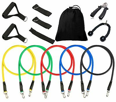 Resistance Bands Tube Workout Exercise Elastic Band Fitness Tricep Yoga Rope