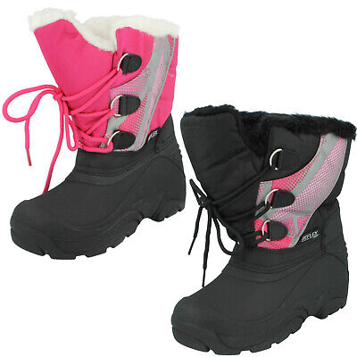 Girls Reflex H4066 Lace Up Infant Warm Winter Casual Snow Boots Fur Junior Size