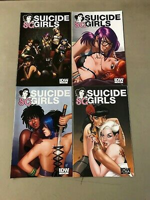 Suicide Girls 1 2 3 4 RARE comic set photo variant limited edition Jetpack Excl