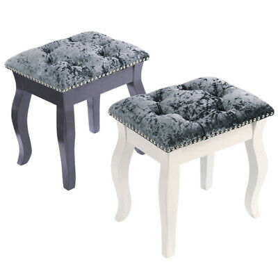 Dressing Table Stool Upholstered Chair Piano Room Bedroom Cushioned Seat Studs