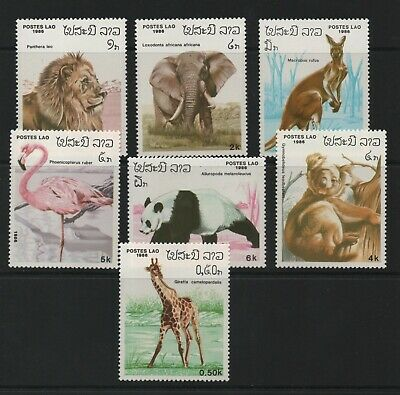 Thematic Stamps Animals - LAOS 1986 ANIMALS 7v  898/904 mint