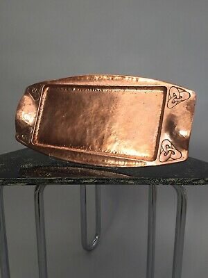 Arts and Crafts Movement copper tray antique vintage Celtic knot motifs original