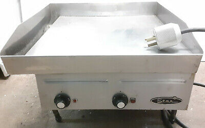 "Star Electric Flat Top Grill Commercial Chrome Top 24"" Heavy Duty Griddle 2'x2'"