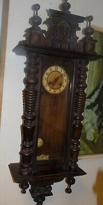 8 Day Striking Carved Vienna Style Wall Clock