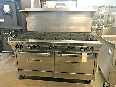 Southbend X560Dd 10-Eye Range With Double Oven-Gas  #14446