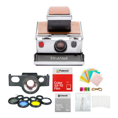 Polaroid SX-70 Instant Camera Gift Bundle with Lens Set and Film Packs