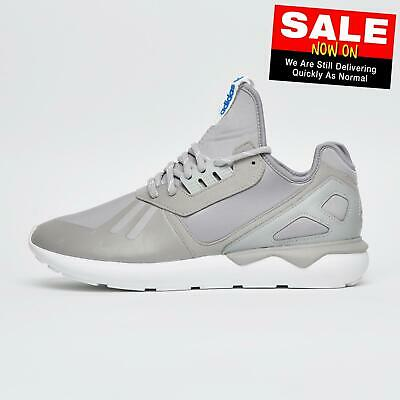 Adidas Originals Tubular Runner Junior Running Shoes Trainers Grey Poly Bagged