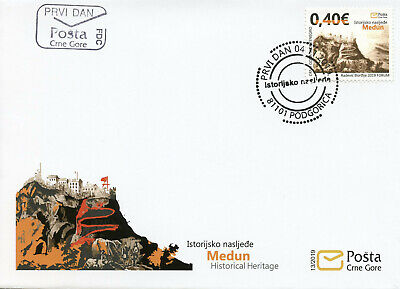 Montenegro Stamps 2019 FDC Historical Heritage Old Medun Architecture 1v Cover