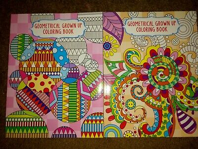 Lot of 2 New Adult Coloring Books Geometrical
