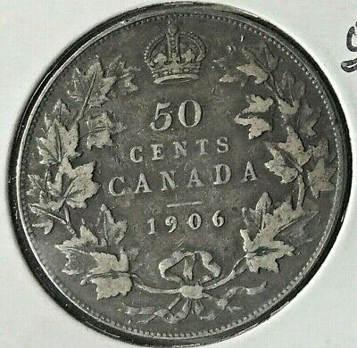 Canada 1906  50 Cent  Silver Coin From A Huge Collection 'Keep Following Us'