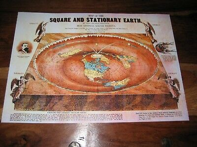 AO Flat Earth Map 200gsm GLEASON/'S NEW STANDARD MAP OF WORLD 1892