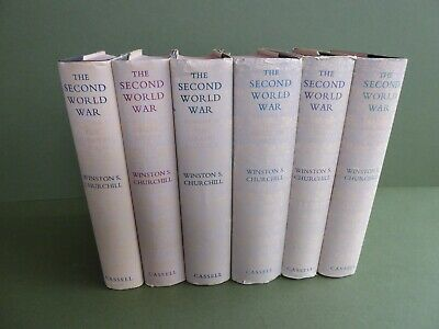 SUPERB RARE 6 VOL 1st ED HB set CASSEL-THE SECOND WORLD WAR By WINSTON CHURCHILL