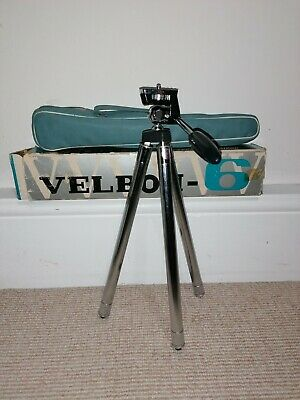 Velbon - 6 : Vintage tripod with case and original box