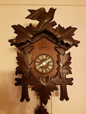 LOVELY 8 day  BLACK FOREST CUCKOO CLOCK /Fully  serviced  !!