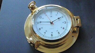 Bey Berk Brass Porthole Clock - Used