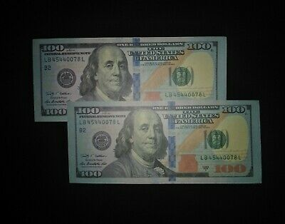 1) FEDERAL RESERVE Hundred Dollar Bill  old Currency  small