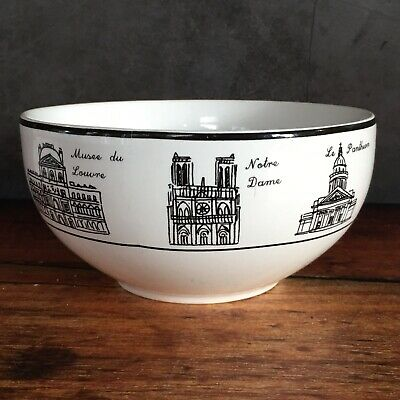 "222 Fifth Around The City Paris Soup Cereal Ice Cream Bowl 5.5"" x 2.5"""